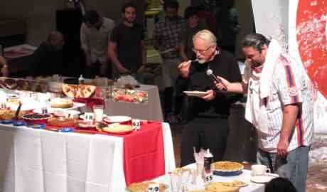 Dan Wieden judges the entries in Wieden + Kennedy's tenth annual PIE contest