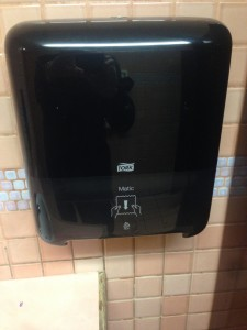 paper towel dispenser, Gresham, OR Burgerville